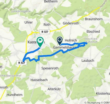 Restful route in Kastellaun