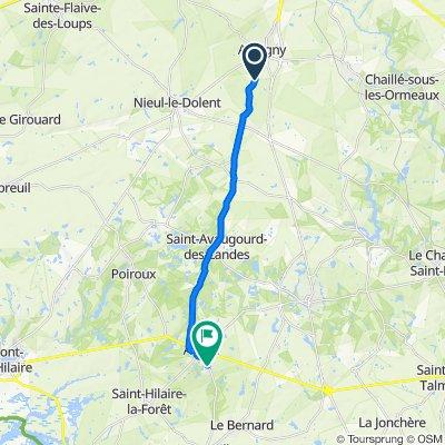 Itinéraire modéré en Aubigny