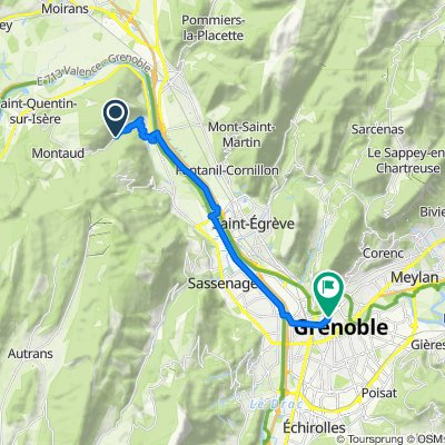 Moderate route in Grenoble