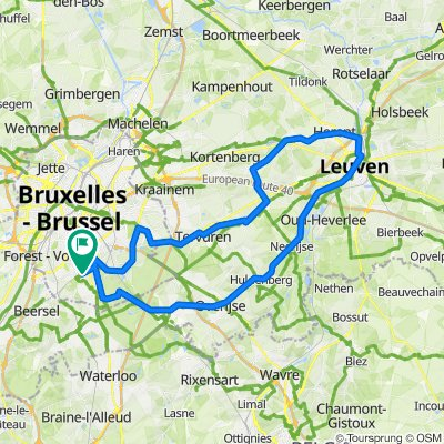 To Leuven and back on road bike