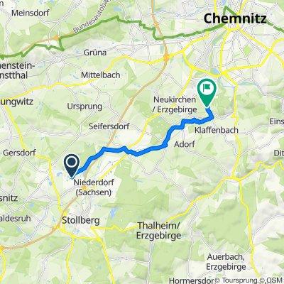 Entspannende Route in Chemnitz