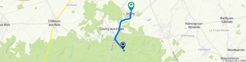 Moderate route in Vrigny