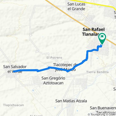 Ruta supersónica en San Martín Texmelucan