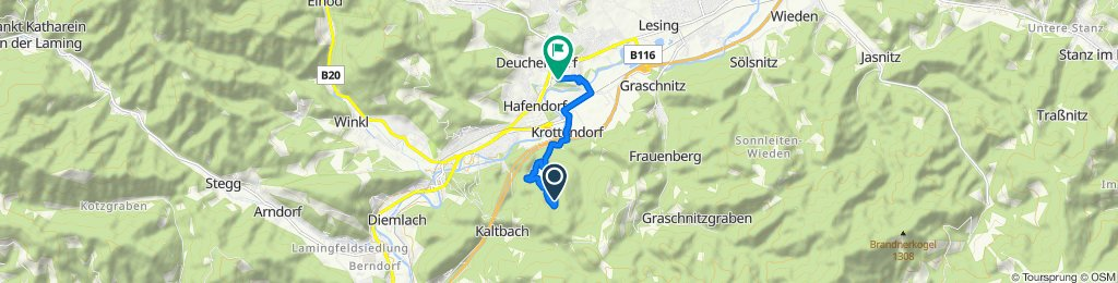 Moderate route in Deuchendorf