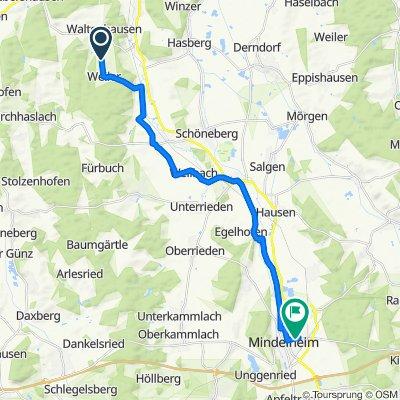 Gemütliche Route in Waltenhausen