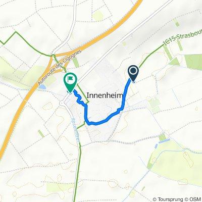 De Rue du Tramway, Innenheim à 8 Route de Barr, Innenheim