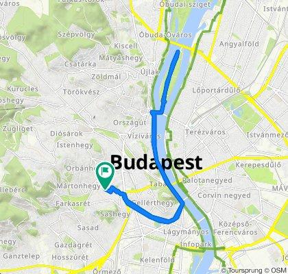 Fürj utca 36., Budapest to Fürj utca 38a., Budapest