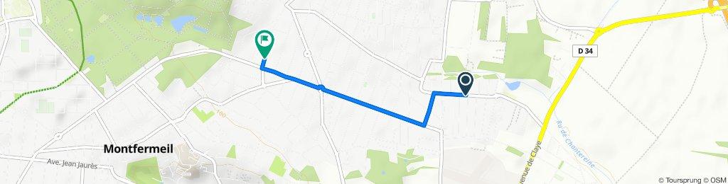 De 39 Chemin de Chantereine, Chelles à 39 Avenue Chevreul, Montfermeil