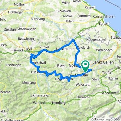 Herisau-Degersheim-Lütisburg-Bazenheid-Lamperswil-Rickenbach-Schwarzenbach-Brübach-Hauptwil-Arnegg-Gossau-Herisau