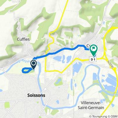 Itinéraire vers 4 Allée des Bleuets, Crouy