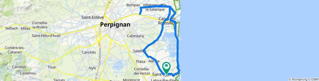 Saint-Cyprien, Canet, Ste Marie, Villelongue, Bompas, St Nazaire, Saleilles, Alenya.