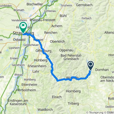 3-Täler-Weg Teil 2 (Alpirbach - Straßburg)