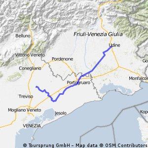 Da Udine a Treviso