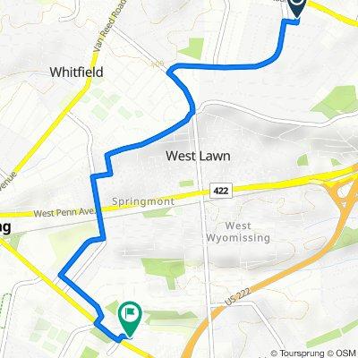 1 Bristol Ct, Wyomissing to 2669 Shillington Rd, Reading
