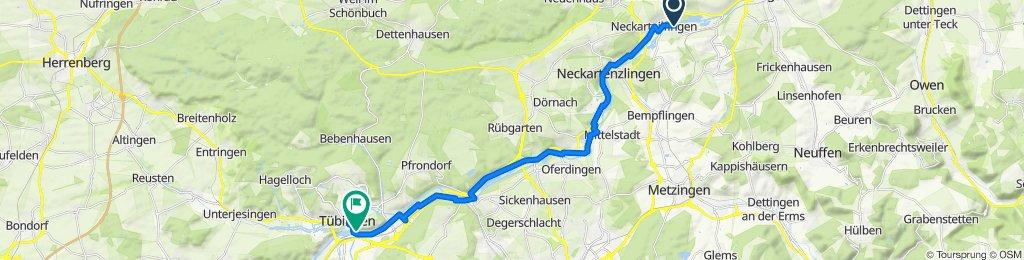am 01.06.2020 mit Uschi von Home nach Tübingen Cafe Lieb und zurück bis Mittelstadt