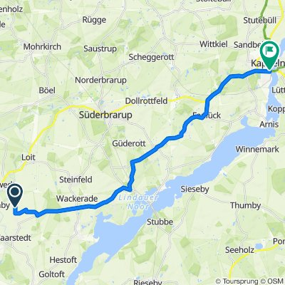 Route Taarstedt - Kappeln