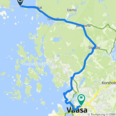 Alskatintie 1375, Mustasaari to Konepajakatu 10, Vaasa