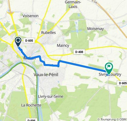 De Avenue du Général Patton 50, Melun à Rue du Calvaire 5, Sivry-Courtry