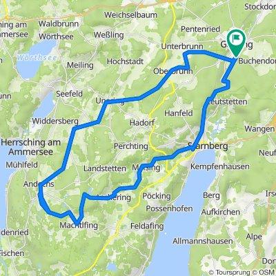 Gauting - Andechs - Starnberg und zurück