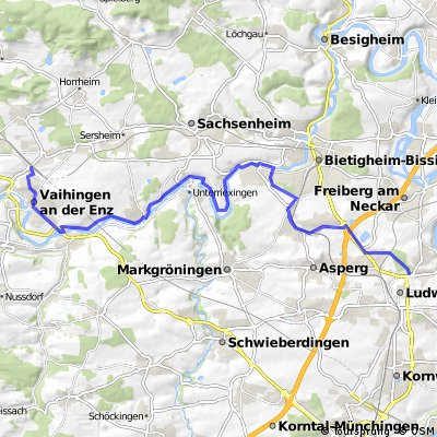 Vaihingen (Enz) - Ludwigsburg CLONED FROM ROUTE 523466