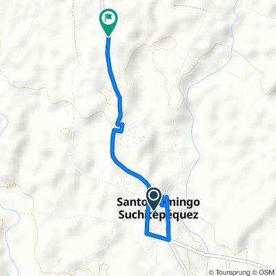 Ruta supersónica en Santo Domingo Suchitepéquez
