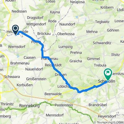 Am Hermsdorfer Anger 103, Gera nach Walter-Kluge-Straße 6, Schmölln