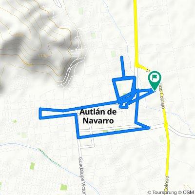 De Calle Gustavo Díaz Ordaz 12, Autlán de Navarro a Calle Gustavo Díaz Ordaz 12, Autlán de Navarro