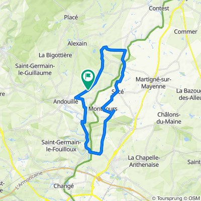 Blistering ride in Andouillé