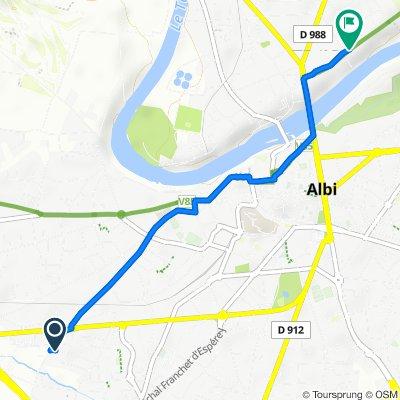 Route stable en Albi
