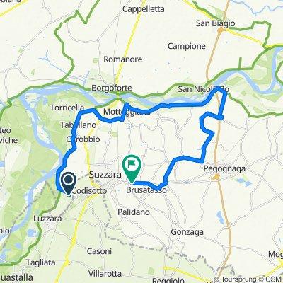 Da Via P. Borsellino 33, Suzzara a Viale Pace 6, Suzzara