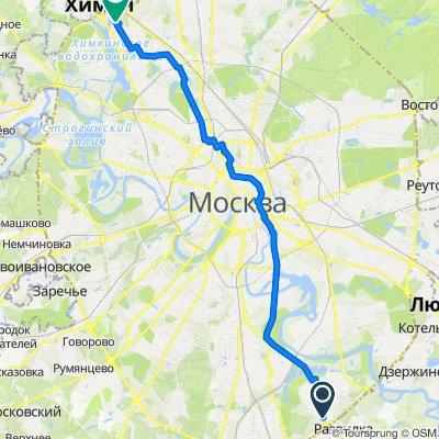 маршрут с Каширское шоссе, 65Б, Москва