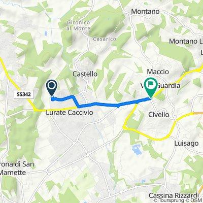 Da Via Barozzo 7B, Lurate Caccivio a Via Varesina 67, Villa Guardia
