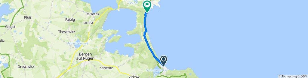 Route from Strandpromenade 37, Binz
