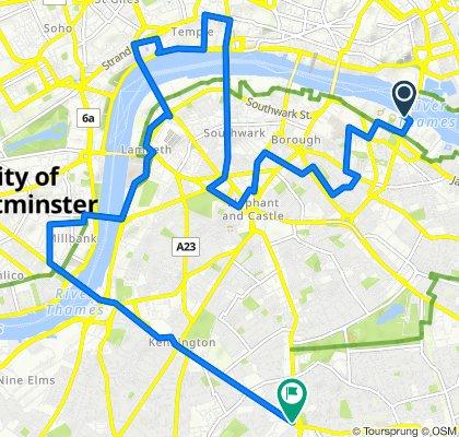 Restful route in London