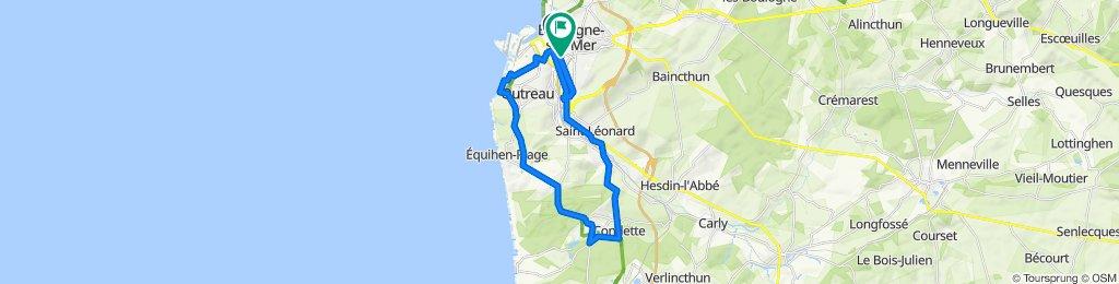 De Boulevard Diderot, Boulogne-sur-Mer à 26 Rue Jules Verne, Boulogne-sur-Mer