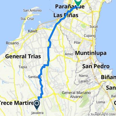 Cavite, General Trias to Rainbow 27, Parañaque