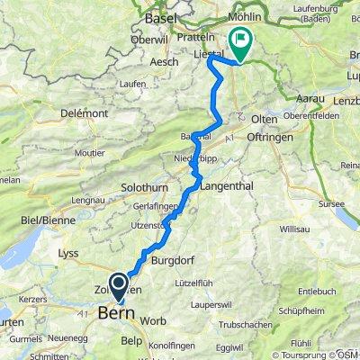 Bern Wankdorf - Aeschi - Oberer Hauenstein - Böckten
