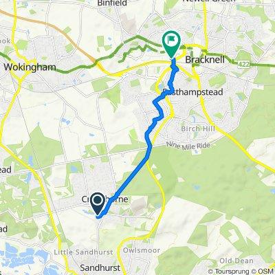 Crowthorne to Bracknell