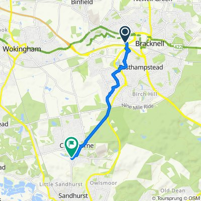 Bracknell to Crowthorne
