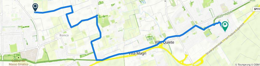 Giro a velocità costante in Gorgonzola