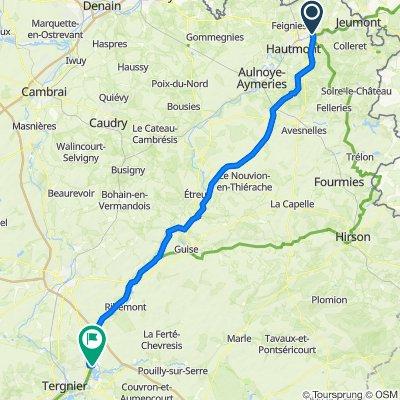BN - Paris: 4. Etappe: Maubeuge -  Travecy