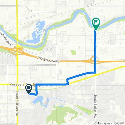 15911–16021 E Fourth Ave, Spokane Valley to 18715 E Riverway Ave, Spokane Valley