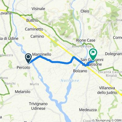 Da SP78 101, Percoto a Via Madonna del Podgora 20, San Giovanni Al Natisone