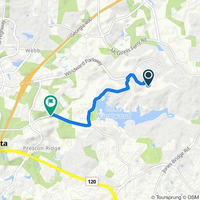 Moderate route in Alpharetta