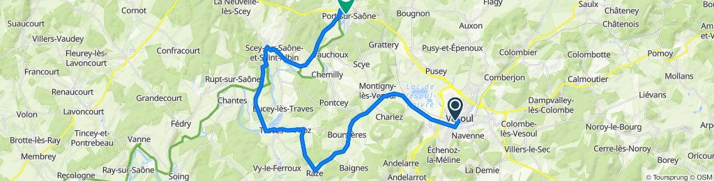 Saône-Mosel 1. Tag — Vesoul / Raze / Port sur Saône