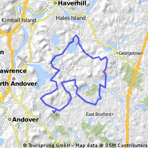 North Andover, Boxford, Georgetown & Groveland hills