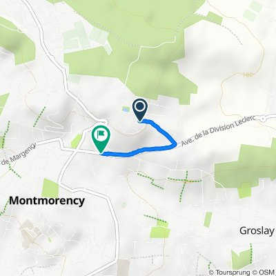 Relaxed route in Montmorency