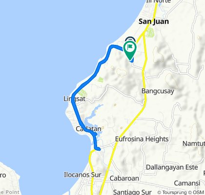 Route from Manila North Road, San Juan