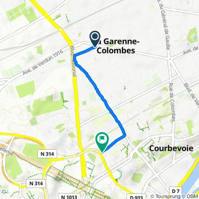 De 80 Rue Sartoris, La Garenne-Colombes à 23 Rue Serpentine, Courbevoie