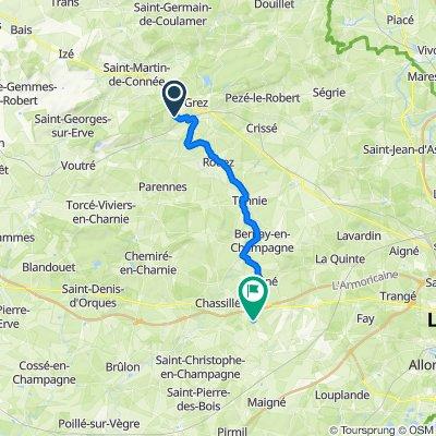 De La Roberdière, Rouessé-Vassé à 2 Rue de Montfaucon, Auvers-sous-Montfaucon